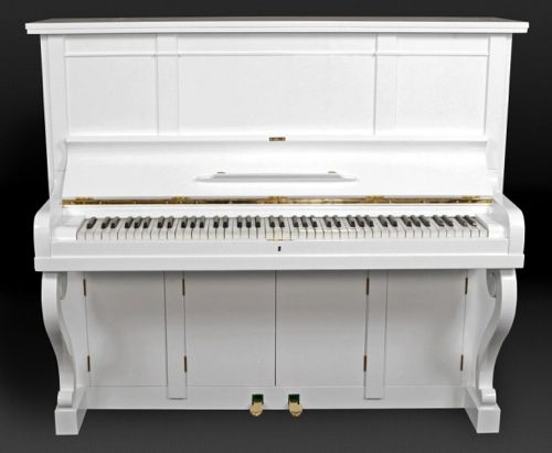White piano w/ LCD tv pop out..