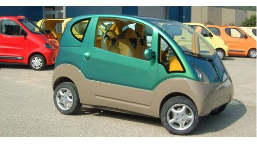 Tata Motors enters second phase of air-car development - MDI compressed-air technology is being developed in India by Tata Motors (pictured is MDI's MiniFlowAIR urban 3-seater)