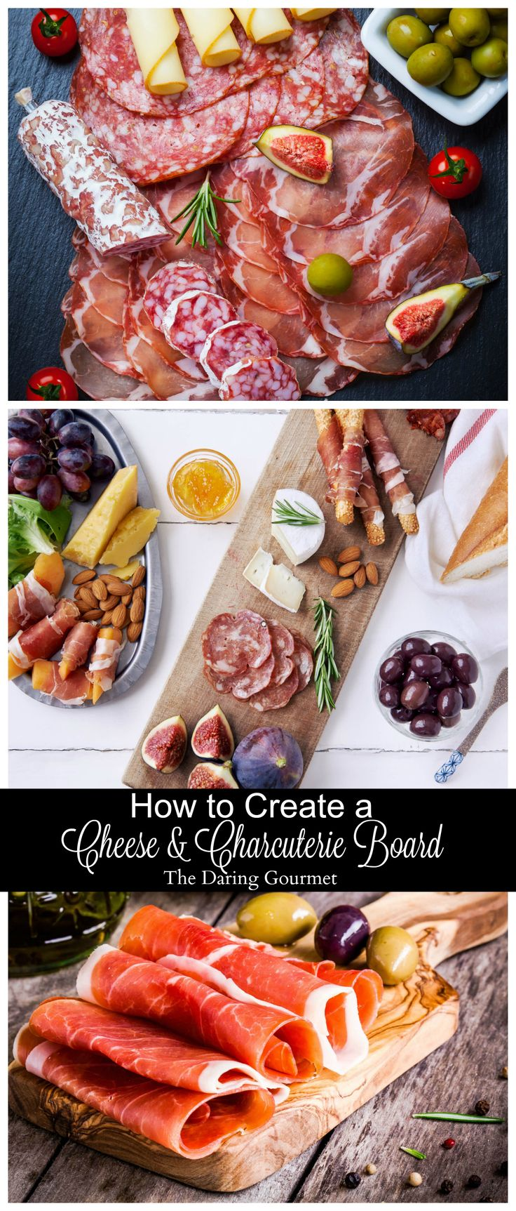 How To Create a Cheese & Charcuterie Board.  daringgourmet.com