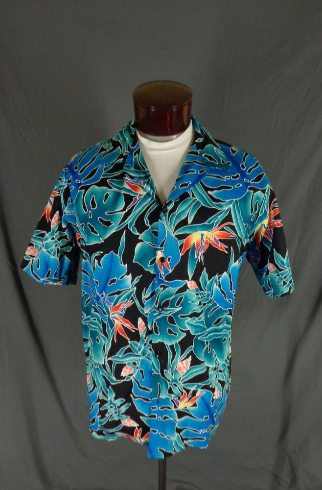 7fae34f95 Vintage Hilo Hattie Retro Tropical Palm Leaves & Hibiscus Hawaiian Shirt -  XL #HiloHattie #Hawaiian #Doyoureallyneedone