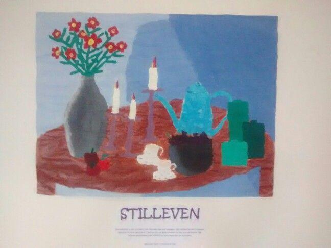 Kinderen maken hun eigen stilleven. Letten op samenstelling en schaduw na het bestuderen van schilderijen uit de gouden eeuw