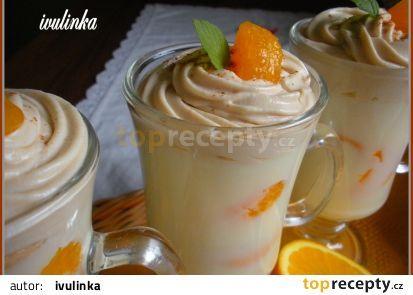 Pudingový pohár se smetanovo-kávovou čepičkou recept - TopRecepty.cz