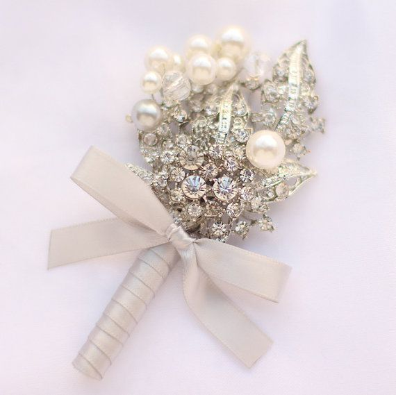 groom brooch corsages, Men Corsage, contracted style.