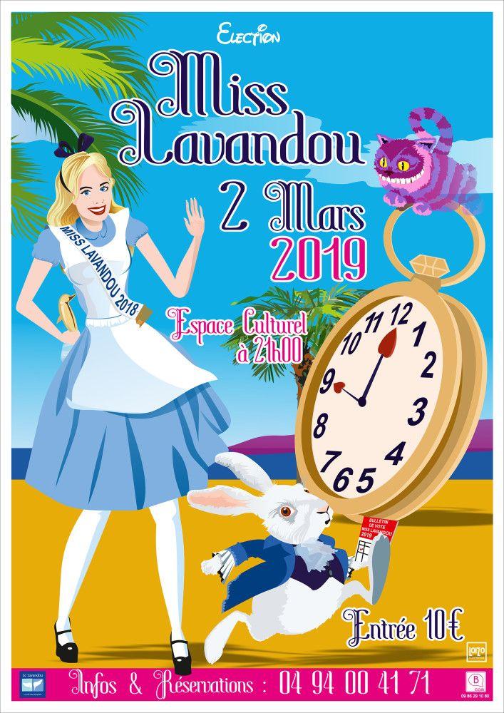 Affiche Miss Lavandou 2019 Vintage Illustration Talenthouse Disney Characters