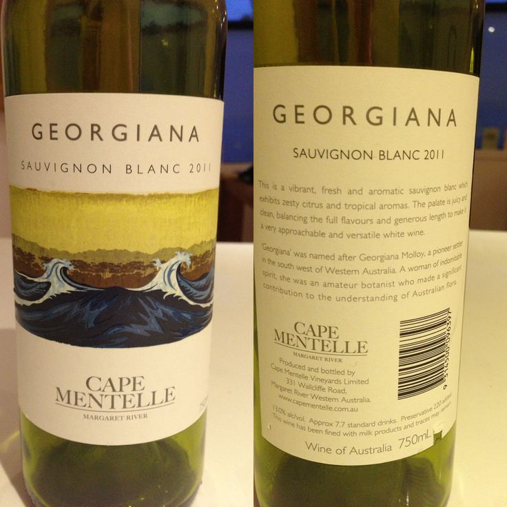 Georgiana, Cape Mentelle, Margaret River, WA - Sauvignon Blanc 2011. Shared with Hazel, July 2013