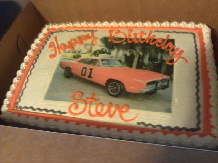General Lee birthday cake purchased at Merritts Bakery in  ~ 060608_Birthday Party Ideas Tulsa