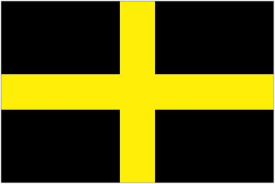 The flag of St. David of Wales!