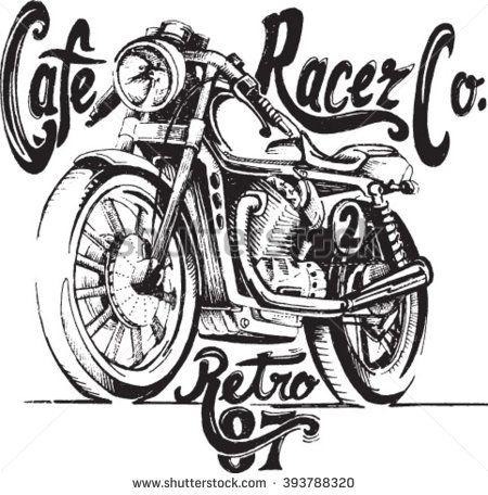 Vintage Motorcycle hand drawn vector