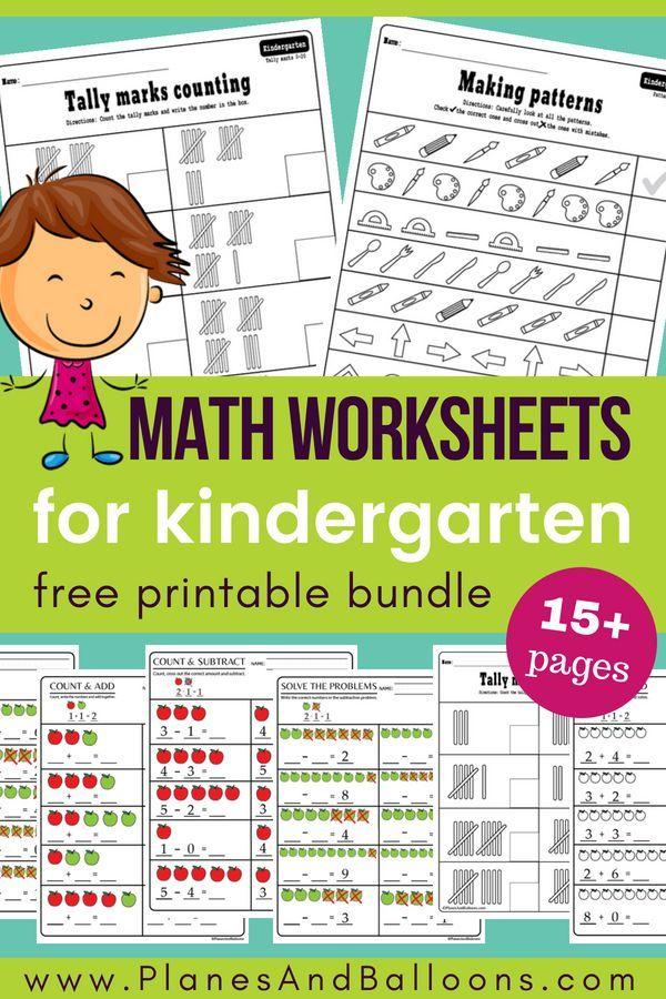 15 Kindergarten Math Worksheets Pdf Files To Download For Free Kindergarten Math Worksheets Free Kindergarten Math Worksheets Kindergarten Math Worksheets Printables