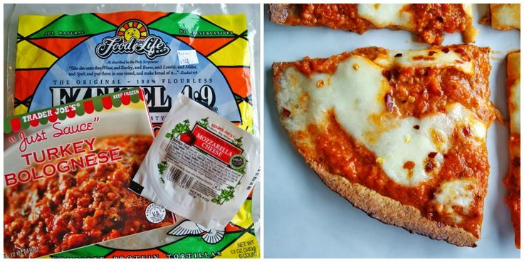 TRIED: tortilla pizzas- bake tortilla at 400 directly on rack for 3 mins, take out add sauce and toppings- bake another 5 mins directly on oven rack. I liked the turkey sauce but i think i want to try others. Next time I'l buy cheese already grated too.