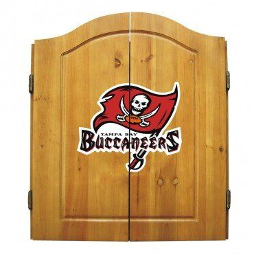 Arizona Cardinals Dart Cabinet Set with Darts and bristle dartboard