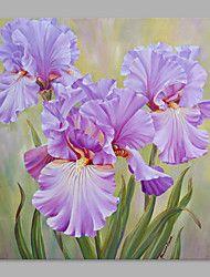 Peint à la main A fleurs/Botanique Format Vertical,Artistique Un Panneau Toile Peinture à l'huile Hang-peint For Décoration d'intérieur