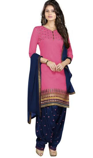 LadyIndia.com # Cotton Kurti, Stylish Floral Cotton Pink Kurti For Women, Kurtis, Kurtas, Cotton Kurti, https://ladyindia.com/collections/ethnic-wear/products/stylish-floral-cotton-pink-kurti-for-women