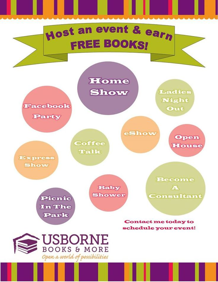 Hosting An Usborne Book Look Party Is Easy Fun And You Receive Free Books