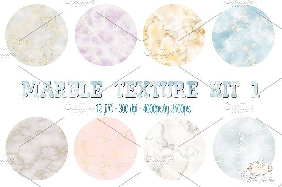 Marble Texture Kit by Studio Julie Ann on @creativemarket