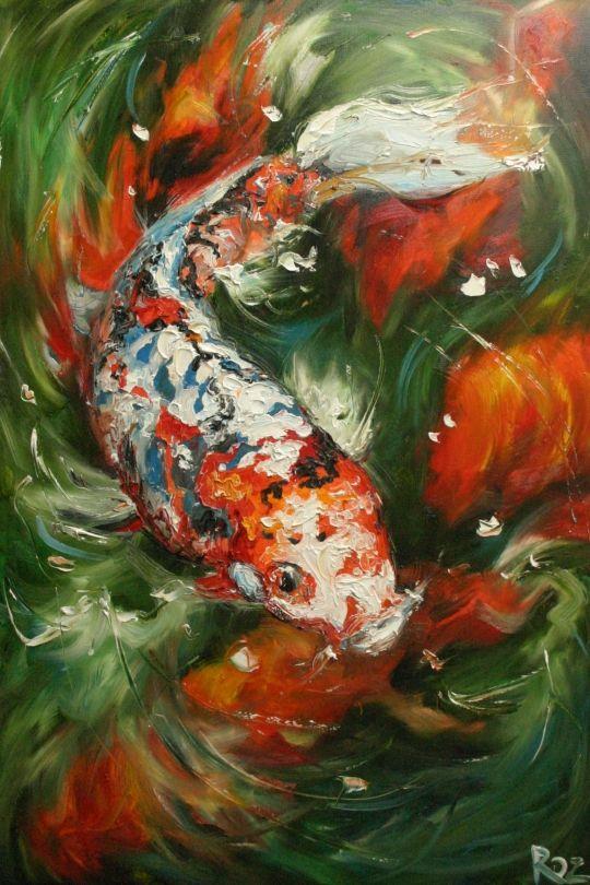 25 best ideas about koi painting on pinterest koi koi for Koi fish canvas art