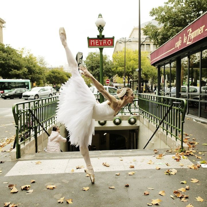 Beautifully Elegant Dancers Pose Along City Streets by Lisa Tomasetti