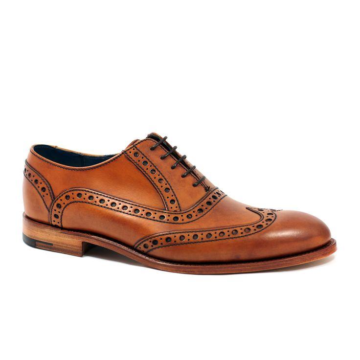 Barker Grant Mens Formal Lace Up Brogue Shoe