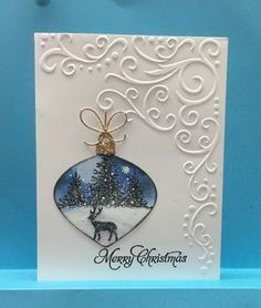 Image result for christmas oval aperture cards with cottage scenes scenes