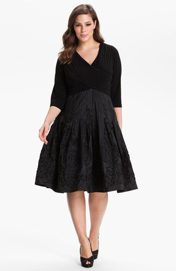 Adrianna Papell Soutache Skirt Dress (Plus) available at #Nordstrom