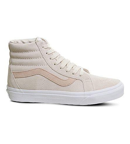 VANS Sk8 Hi suede high-top sneakers. #vans #shoes #