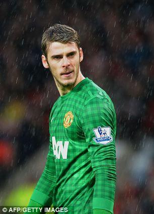 Manchester United's goalkeeper David de Gea