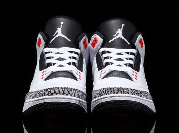 Air Jordan 3 Retro White/Black-Infrared 136064-123 (3)