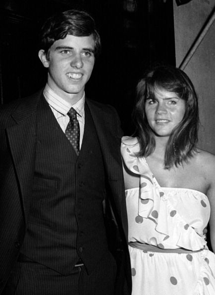 Michael Kennedy and Vicki Gifford attend Michael Kennedy - Vicki Gifford Engagement Party on September 13, 1980 at Le Club in New York City.