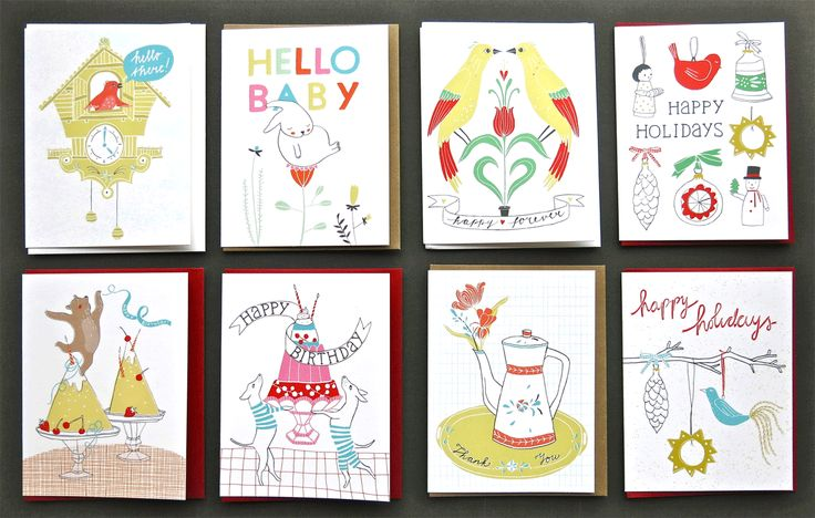 8 greeting cards by Kim Welling for Enormous Champion - Brooklyn / New York - 2015