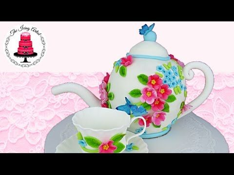 3D Carved Teapot Cake - How To With The Icing Artist - YouTube