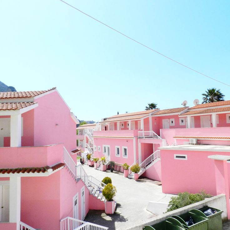 The Pink Palace in Corfu, Greece