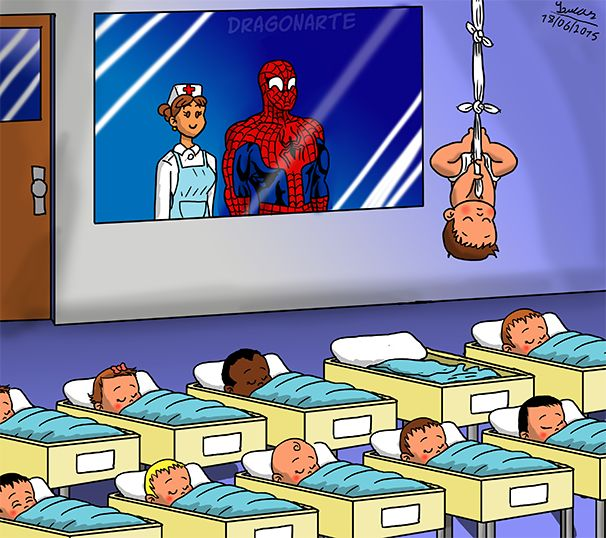 """""""So Spiderman, which one is yours? 