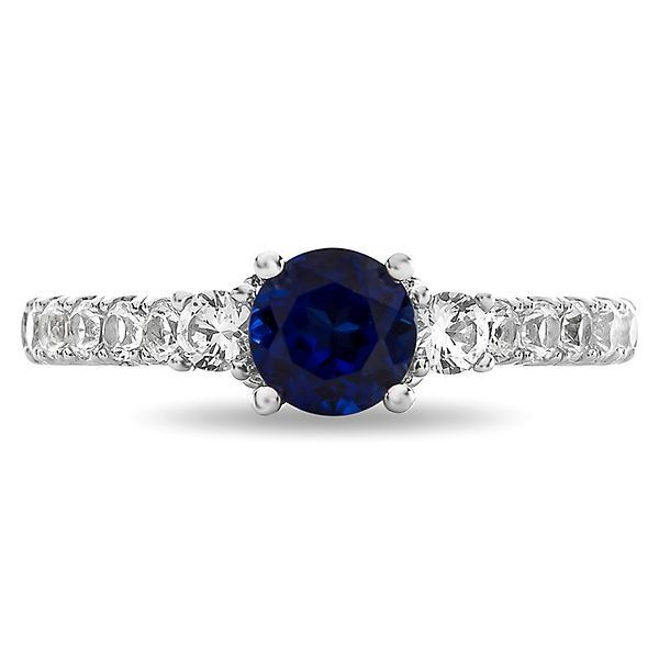 Shades Of Love Sapphire 1 2 Ct Tw Diamond Ring In 14k White Gold Beautiful Engagement Rings Best Engagement Rings Diamond Gemstone