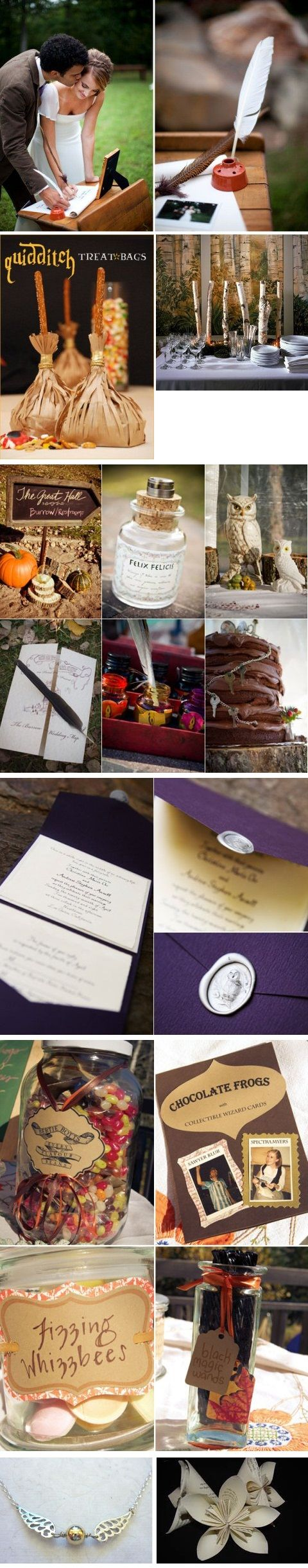 Harry Potter Wedding on http://itsabrideslife.com