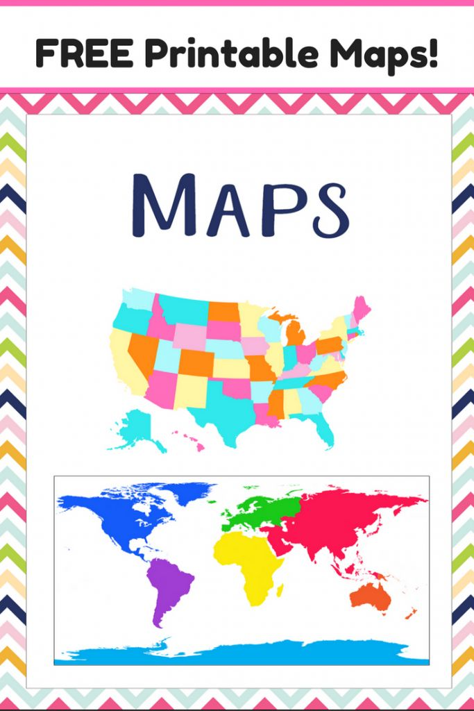 Best 25 Printable Maps Ideas On Pinterest Map Of Usa Usa Maps And United States Map