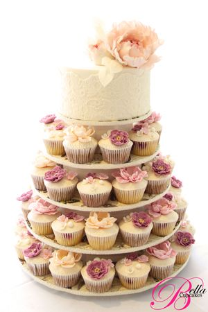 Cupcake Tower Cake by Bella Cupcakes - So Pretty!!