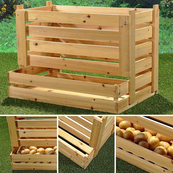 Balkonmobel Set Cube : Vorratskiste XXL Kartoffelkiste Apfelkiste Weinkiste Kiste Holz