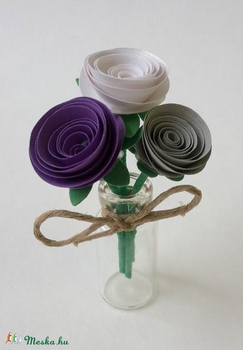 Mini virágcsokor (gyongypapir) - Meska.hu