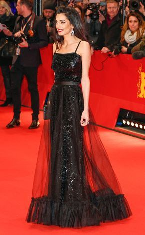 Amal Clooney from The Best of the Red Carpet Exquisite! Amal Clooney in vintage YSL couture stops our hearts.