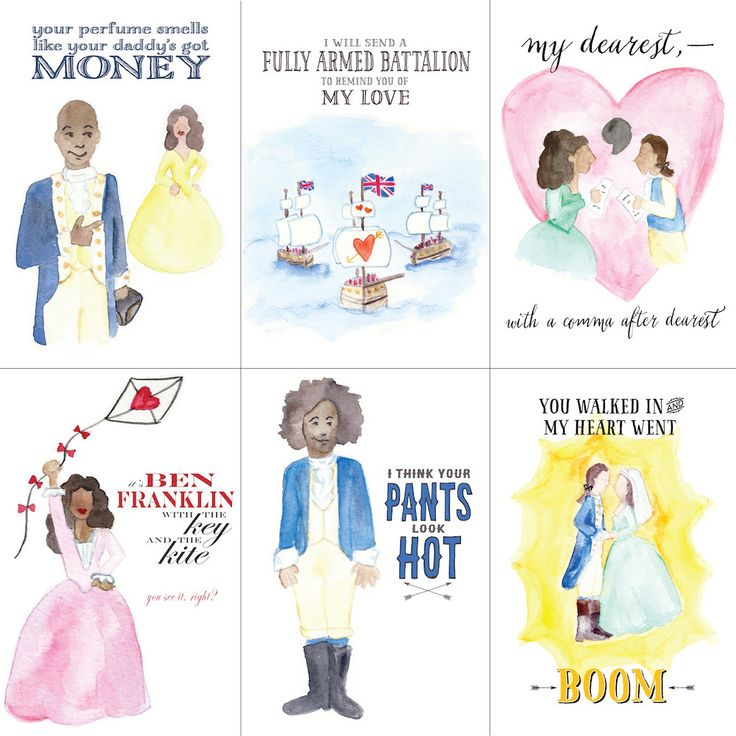 May you be satisfied with these 'Hamilton' Valentine's Day cards