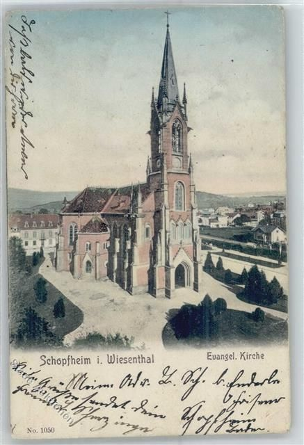 Schopfheim 1908, Kirche