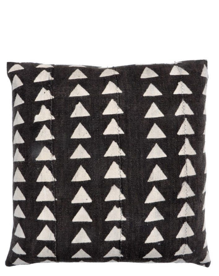 """Triangles Mudcloth Pillow, 20"""""""