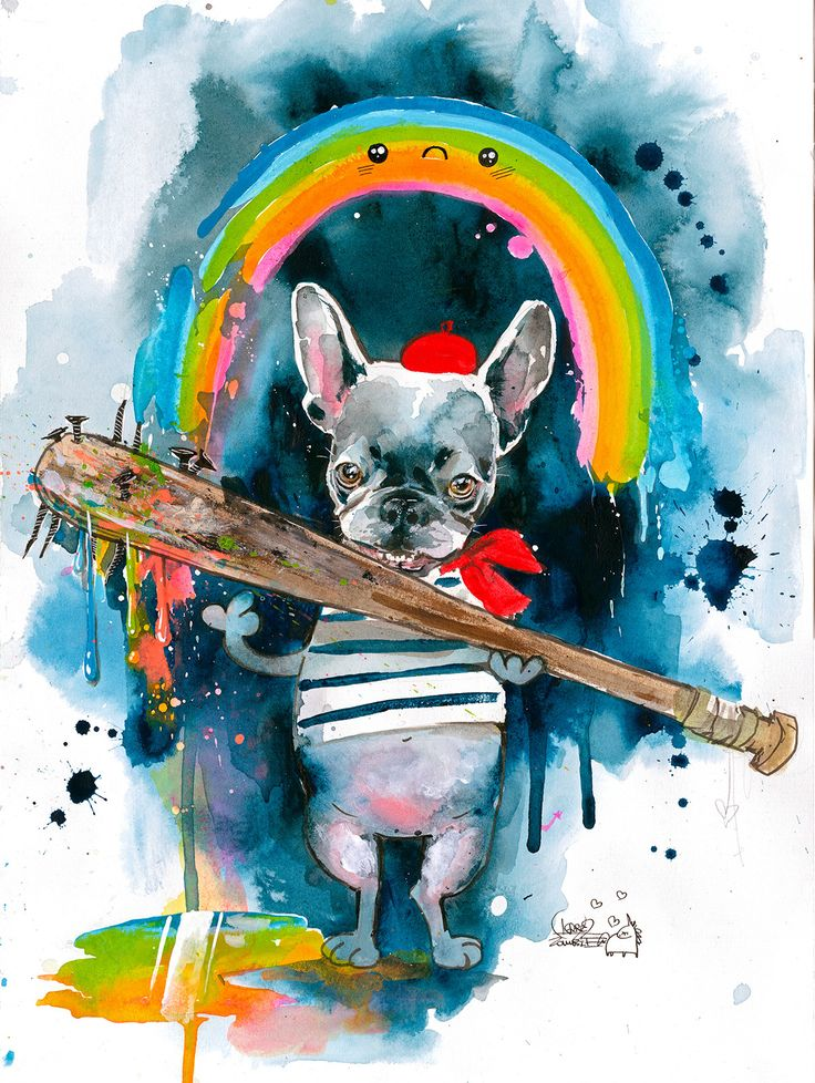 Frenchie by Lora Zombie Eyes On