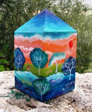 money box, wooden, acrylic www.facebook.com/SofiaFileasArt