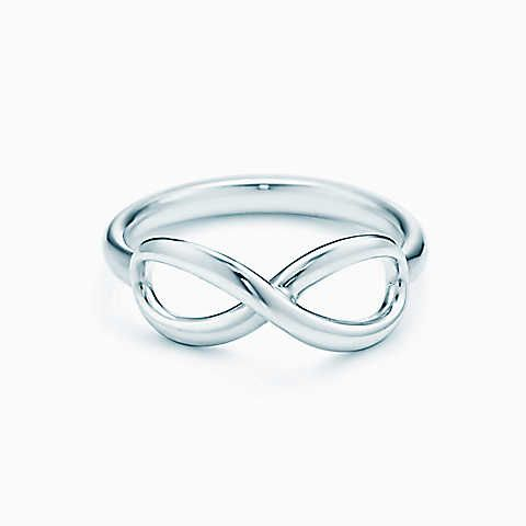 Tiffany Infinity ring in sterling silver - size 9. $175
