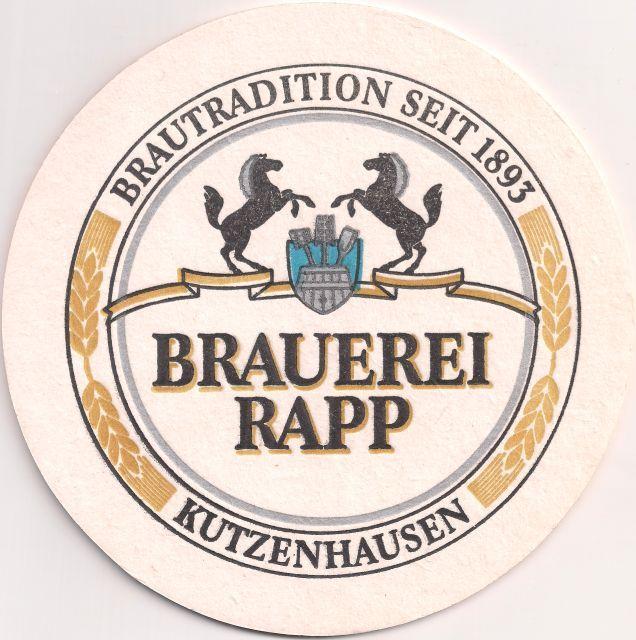 Motivseite: Bierdeckel-Europa-Mitteleuropa-Deutschland-Bayern-Schwaben-Kutzenhausen-Rapp