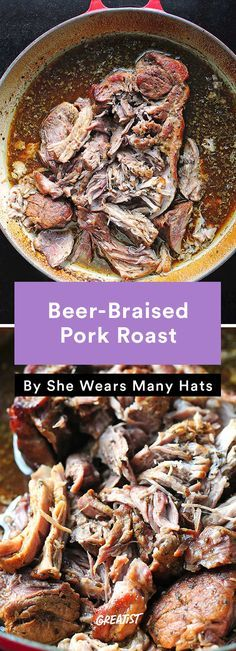 Beer braised pork roast recipe