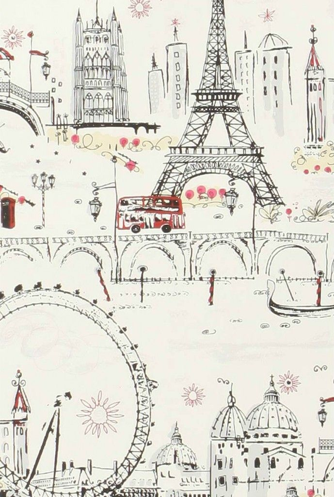 Paris je t 39 aime wallpapers anthropologie and framed wall for Anthropologie wallpaper