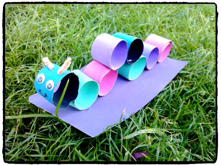 Fabriquer une chenille en rouleaux de papier toilette - Activite manuelle avec rouleau papier toilette ...