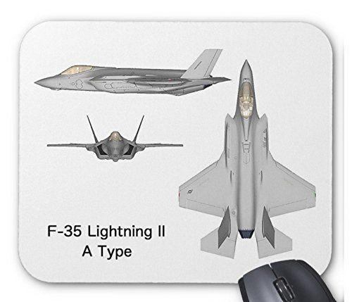 ステルス戦闘機 F-35の三面図のマウスパッド:フォトパッド*(世界の戦闘機シリーズ) (A)